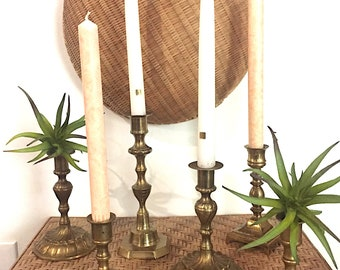 Antique Brass Candle Sticks