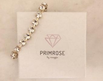 Mini Crystal + Gold Handmade Swarovski Crystal Bracelet, Gold Bracelet, Tennis Bracelet, Swsrovski Wedding Jewelry, Bridal Jewelry