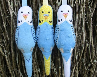 In the hoop Budgie stuffie (5x7) machine embroidery Instant digital download