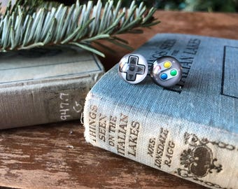 Super Nintendo controller earrings, gift for your video game loving friend