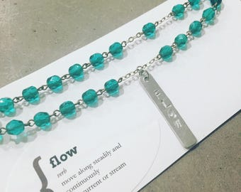 Flow - Green Necklace