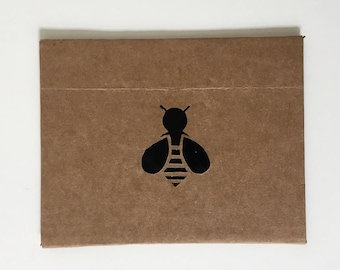 Note Card Set Cards With Envelopes Gifts For Her Blank Stationary Set Handmade Greeting Cards recycled repurposed paper Bumble Bee Cards