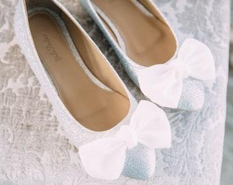 Wedding shoes, gray wedding shoes, bridal ballet flats, low wedding shoes, bridal flats, wedding flats, silver flats, ballet flats