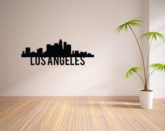 24 Inch Los Angeles City Skyline Vinyl Wall Decal
