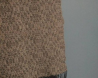 Lace hand woven scarf, Alpaca, hand woven, alpaca scarf, lace scarf, natural, cotton