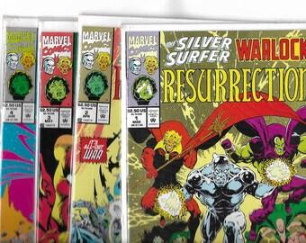 SILVER SURFER/WARLOCK  Resurrection #1,#2,#3,#4  Full Set