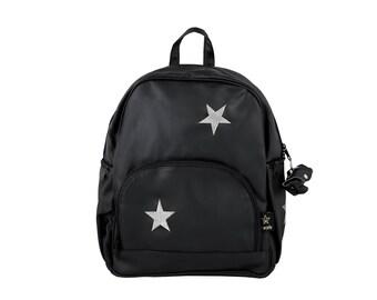 Star Diaper bag / Nappy bag /Laptop bag / Backpack/ Black maternity bag/Changing bag /mommy bag/Gift for her /Baby boy bag