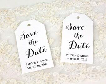 Save the Date - Invitation Tag - Invite Tag - Custom Tag - Wedding Tags - Save the Date Tags - MEDIUM