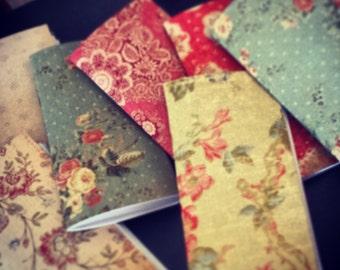 3 Mystery Vintage Floral Slim Notebooks/Cahiers, Moleskin