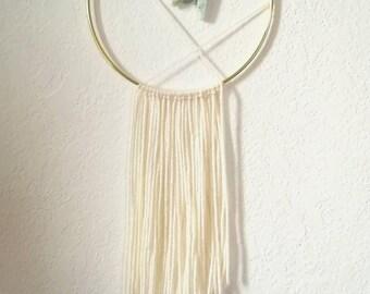 Yarn Wall Hanging || Modern Dreamcatcher || Turquoise || Boho Decor || Nursery Decor || Minimalist Design