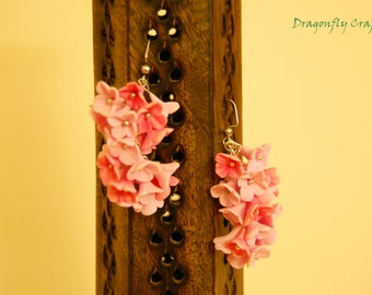 Polymer Clay Earrings. Custom Earrings. Floral Earrings. Dangle Earrings.