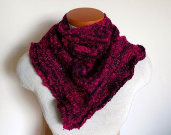 OOAK Handspun narrow triangle scarf