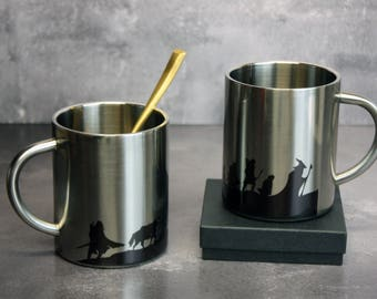 Long Journey LOTR Metal Mug - Lord of the Rings mug - LOTR Unofficial Merchandise - The Lord Of The Rings Stainless Steel Mug