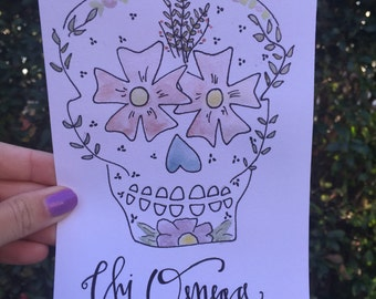 Pretty Skull Chi Omega