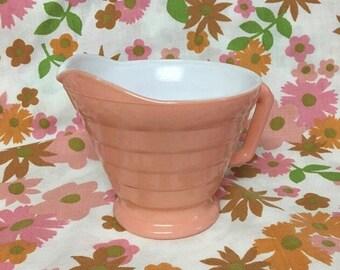 Hazel Atlas Pink Creamer