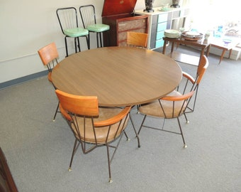 Richard McCarthy Mid Century Modern Table and Chairs Set
