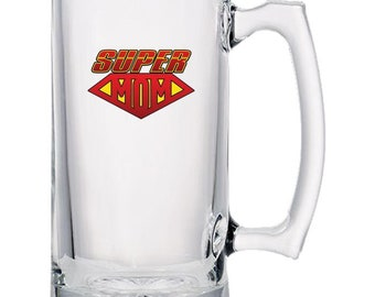 Beer Mugs - Super Mom