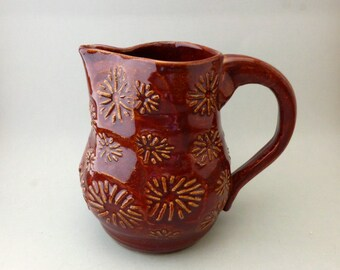 Textured Red Creamer