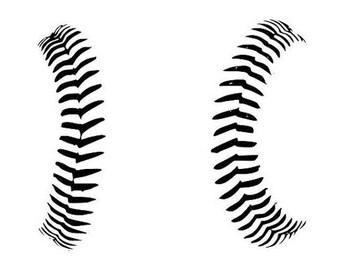 baseball stitch baseball stitch svg baseball lace svg rh etsy com free baseball stitching clipart Red Baseball Stitching