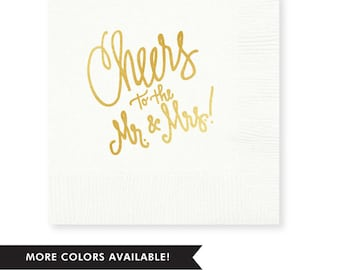 Cheers to the Mr. and Mrs.! Napkins (Qty 25)