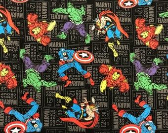 Marvel comics 100% cotton fabric