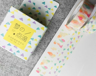 Cute washi tapes - raindrops & triangles | Cute Stationery
