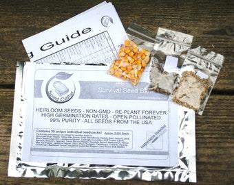 Emergency Survival Vegetable  Non-Gmo, Heirloom Seed Pack-100% Heirloom-Easy to grow!