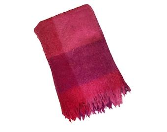 Vintage Fuchsia Hudson Bay Wool Blanket