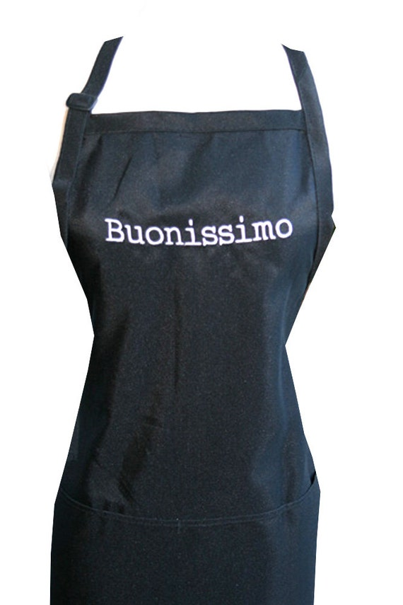 Buonissimo  (Embroidered Adult Apron) In various colors