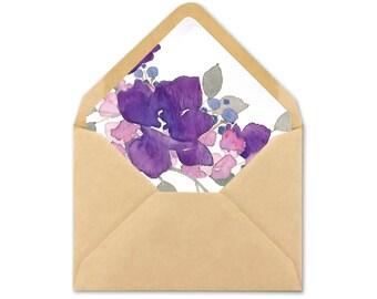 Floral Envelope Liner - Wedding Envelope Liner printable -  A7 square - A7 triangle - A2 square - A2 triangle