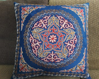 Handmade Pillow Case, Throw Pillow Cover, Decorative Pillow, Sham Cover, Embroidery Pillow Case