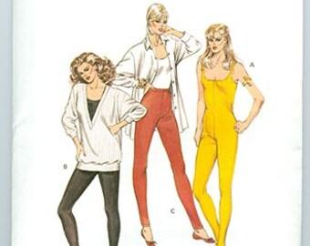 Kwik Sew Pattern 1457 Unitard Stirrup Pants 1980's NEW Misses Sizes XS S M L
