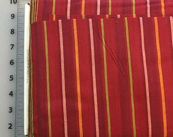 Kaffe Fassett Alternating Stripe Red Cotton woven fabric by the yard
