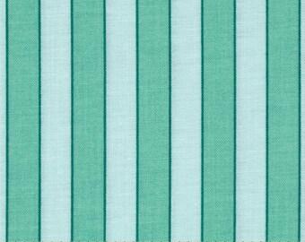 Rosewater Cabana Stripe Mint fabric | Cotton Quilting fabric | Verna Mosquera