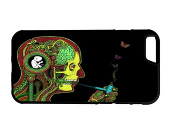 Psychedelic Brain iPhone Galaxy Note LG HTC Hybrid Rubber Protective Case