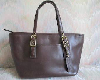 Coach Brown leather mini tote Bag #9846