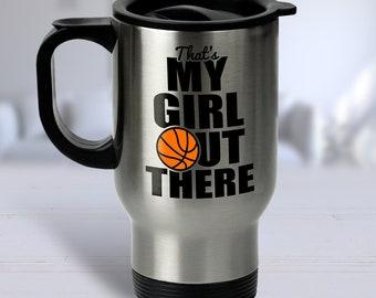 Basketball Travel Mug, Basketball Gifts, Basketball Mom Mug, Travel Mug Basketball, Basketball Grandma, Travel Mug Coffee, Travel Mug Gift