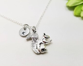 Squirrel pendant etsy squirrel jewelry squirrel pendant critter necklace tiny necklace animal necklace squirrel aloadofball Gallery