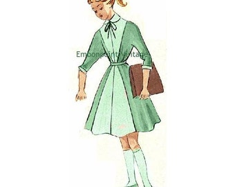 Plus Size (or any size) Vintage 1949 Girls' School Uniform Sewing Pattern - PDF - Pattern No 110 Polly 1940s 40s 1950s 50s