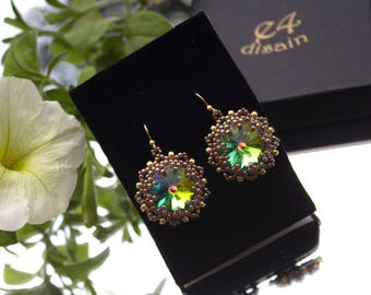 Handmade earrings Swarovski crystals