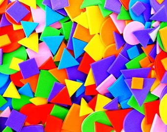 Craft Foam Shapes Assorted Colours 200 pieces