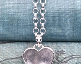 Silver Heart Pendant | Gift for Her | Gift for Wife | Heart Necklace | Anniversary Gift | Bridesmaids Jewellery | Flutter | Alison Moore