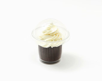 Clear Boxes / Small / Muffin Cups / Cups with Covers / 9 oz