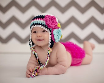 Baby hat, Crochet baby hat, baby hat, baby girl hat, crochet kids hat,  girls winter hat, baby girl winter hat, girls hat, girls winter hat