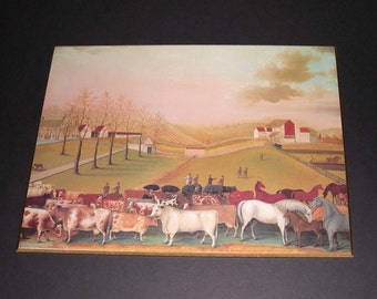 Vintage Folk Art Farm Wall Art - The cornell Farm Edward Hicks