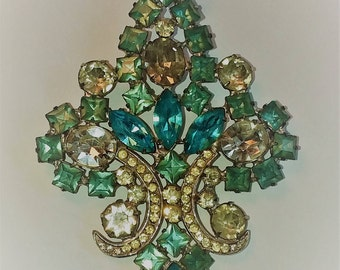 Gorgeous pendant/pin made by Joseph Warner NY