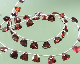 1/2 Strand Top Quality AAA Garnet Micro Faceted Triangle Trilliant Briolettes 7mm