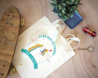 Bag Unicorn, Unicorn Bag, case quote bag, shopper bag, school bag, birthday gift, pouch, snack, diaper bag, make it