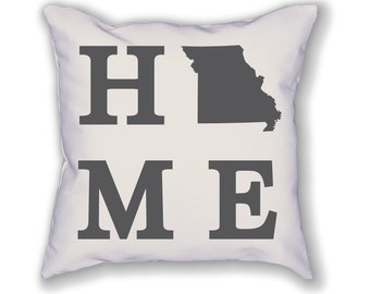 Missouri Home State Pillow