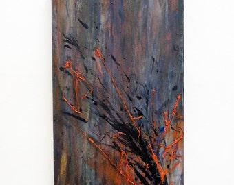 Dark night, Original abstract painting, Modern art, Abstract art, Abstract painting, Abstract canvas art, Original painting.
